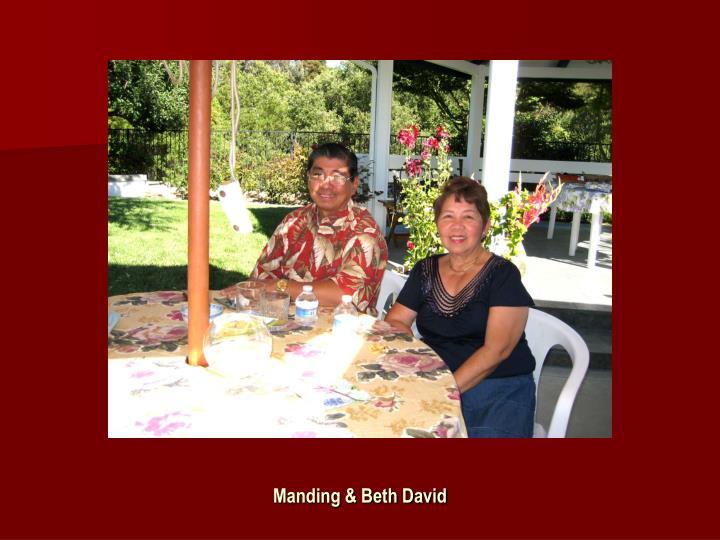 Manding & Beth David