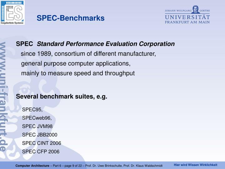 SPEC-Benchmarks