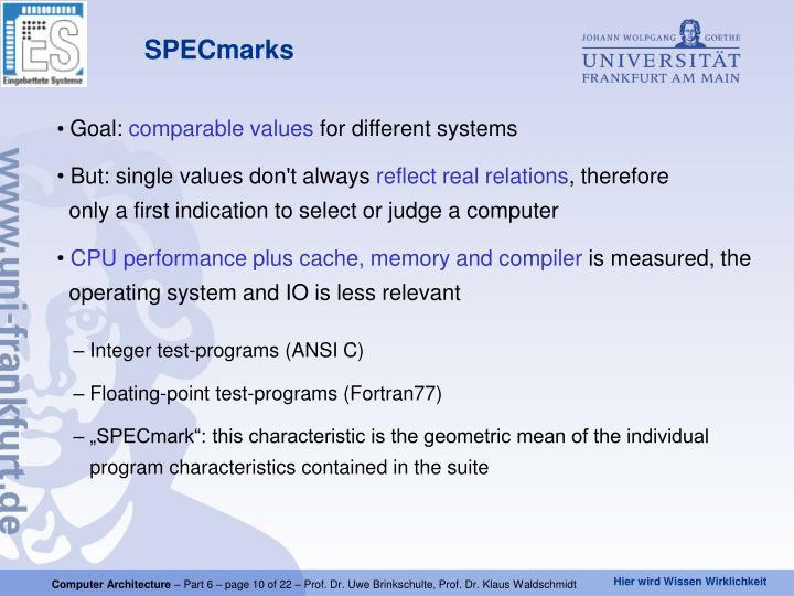 SPECmarks