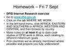 homework fri 7 sept
