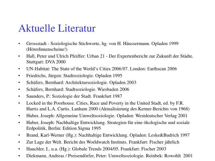 Aktuelle Literatur