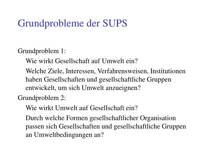 Grundprobleme der SUPS