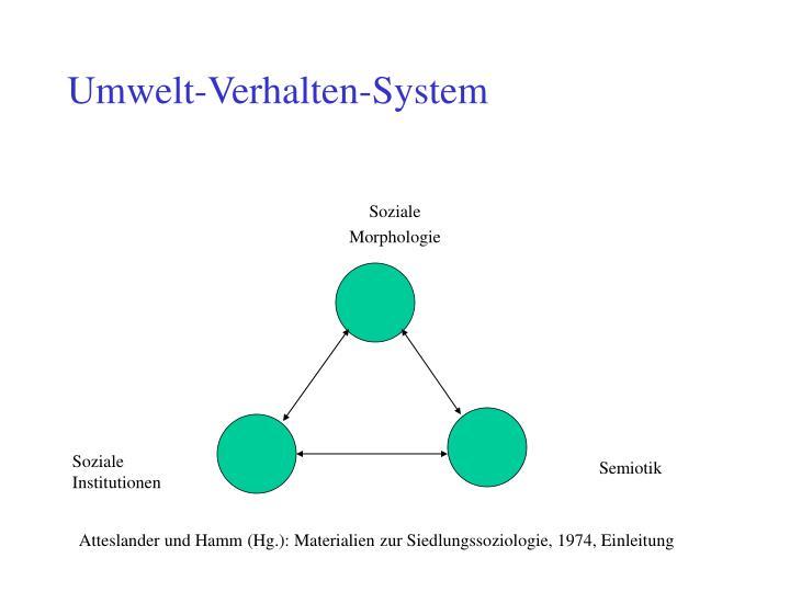 Umwelt-Verhalten-System