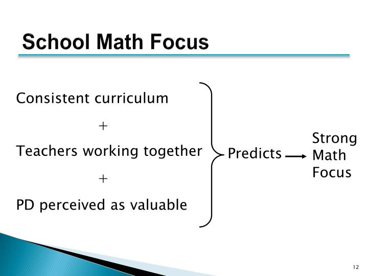 School Math Focus
