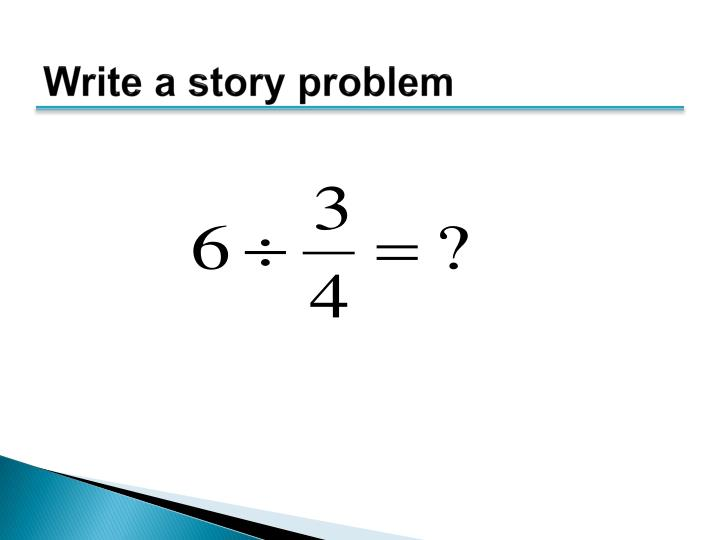 Write a story problem