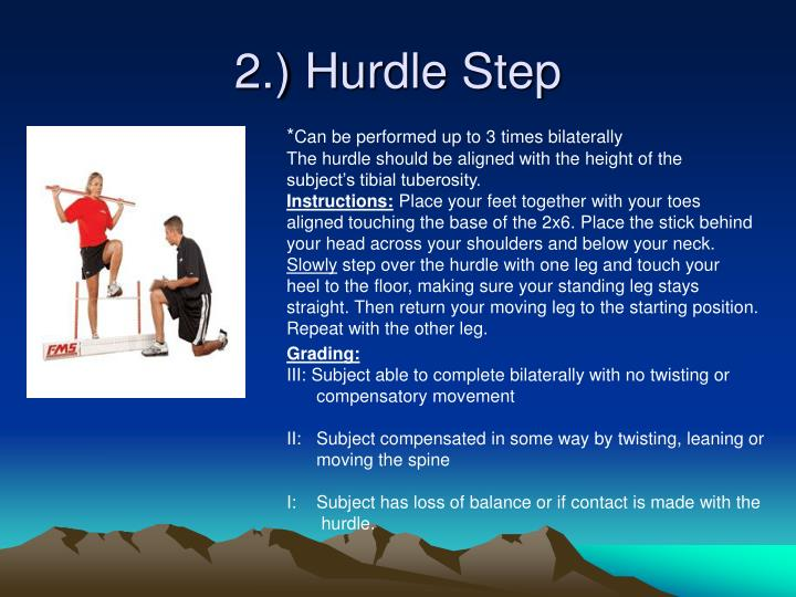 2.) Hurdle Step