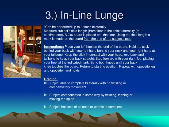 3.) In-Line Lunge