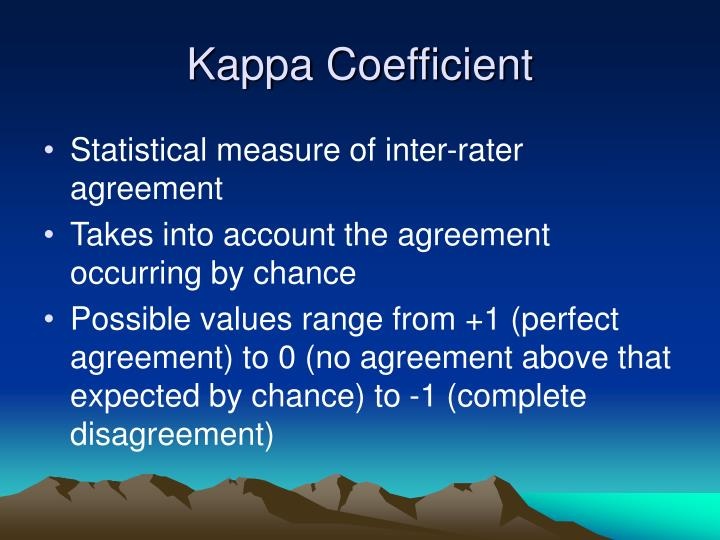 Kappa Coefficient