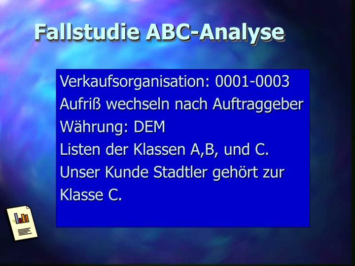 Fallstudie ABC-Analyse
