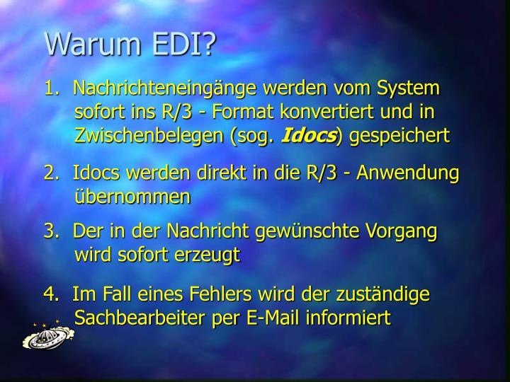 Warum EDI?