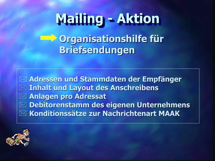 Mailing - Aktion