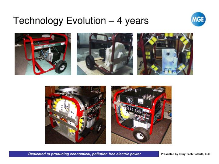 Technology Evolution – 4 years