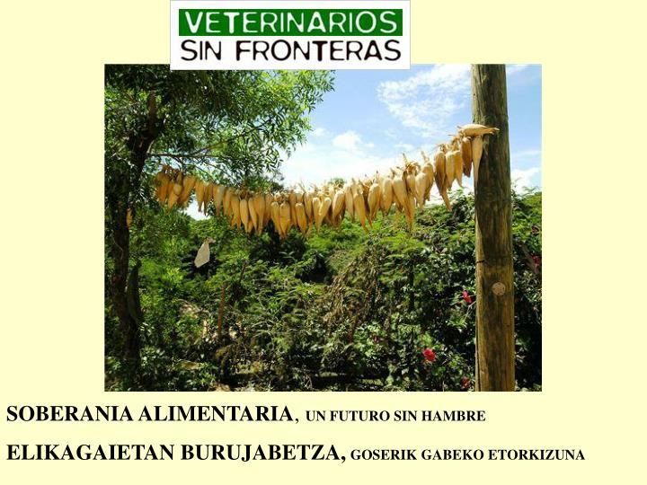 SOBERANIA ALIMENTARIA