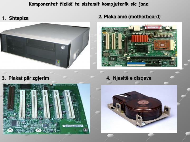Komponentet fizikë te sistemit kompjuterik sic jane