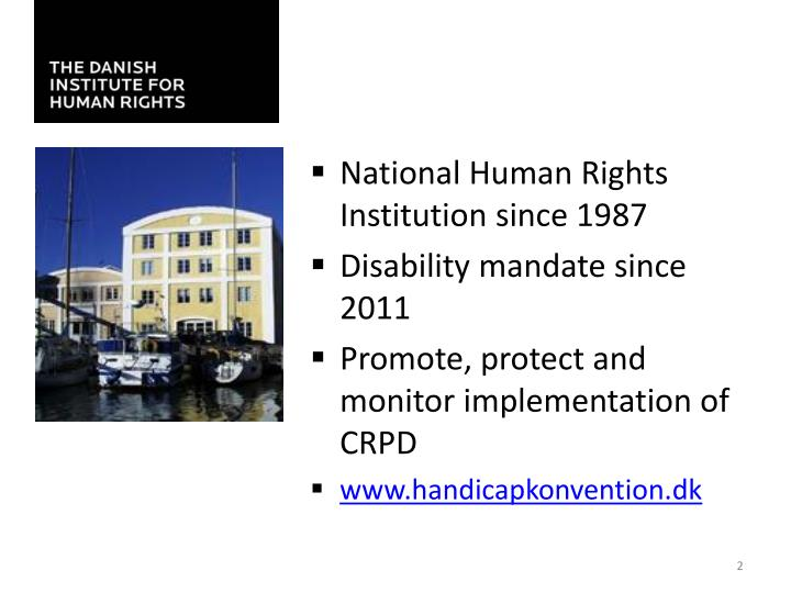 National Human Rights Institution since 1987