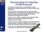 characterizing comparing svori programs