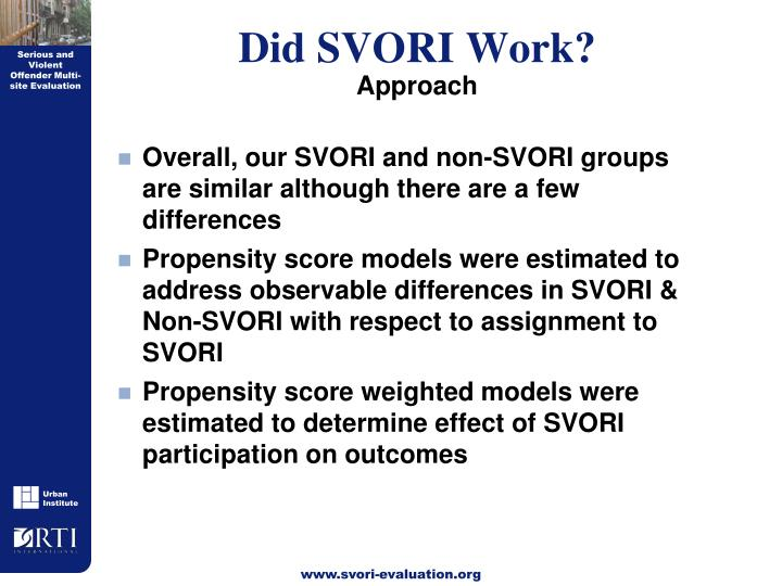 Did SVORI Work?