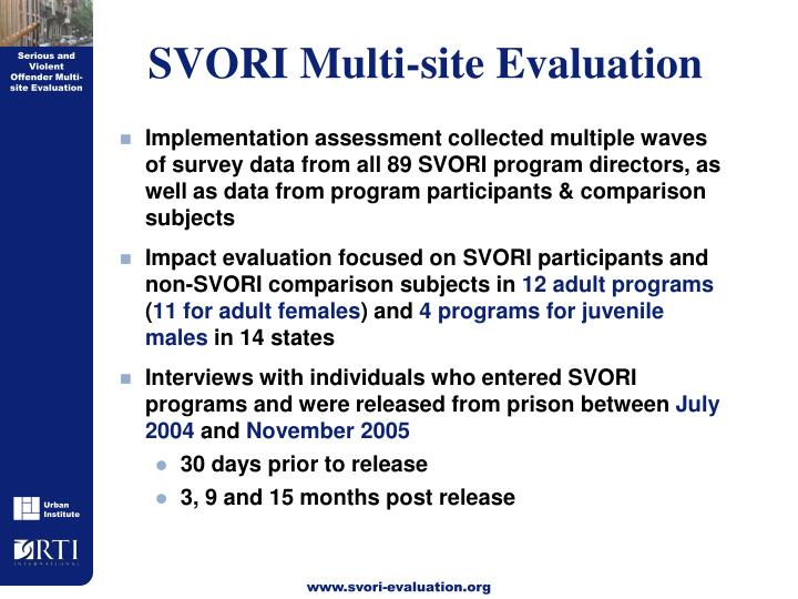 SVORI Multi-site Evaluation