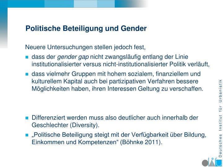 Politische Beteiligung und Gender