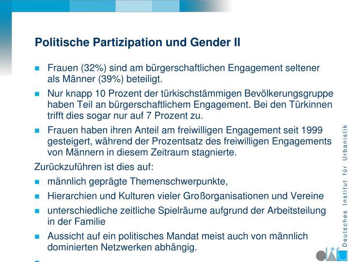 Politische Partizipation und Gender II