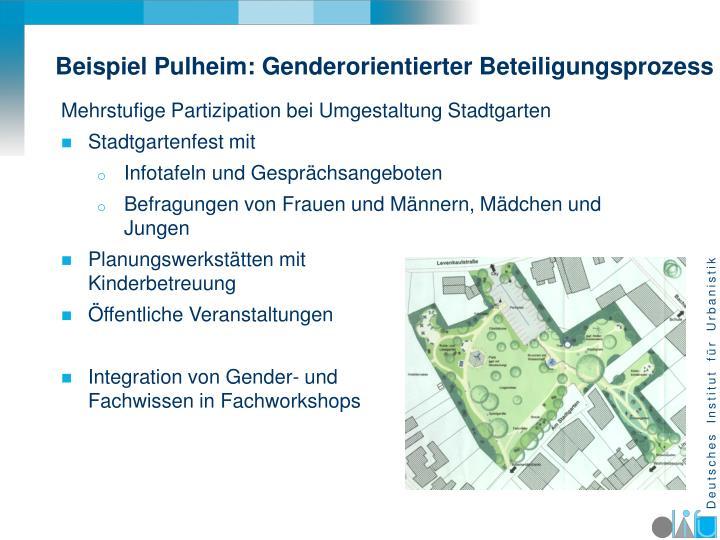 Beispiel Pulheim: Genderorientierter Beteiligungsprozess