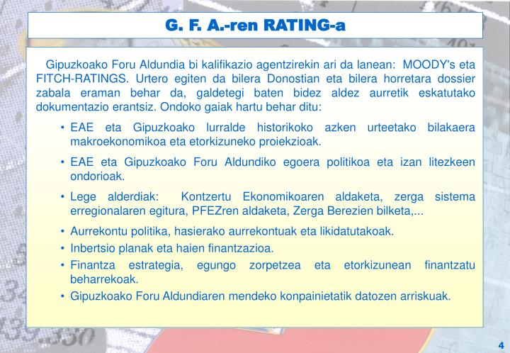 G. F. A.-ren RATING-a