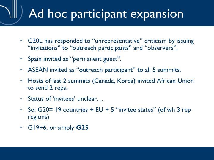 Ad hoc participant expansion