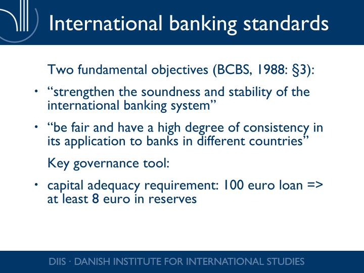 International banking standards