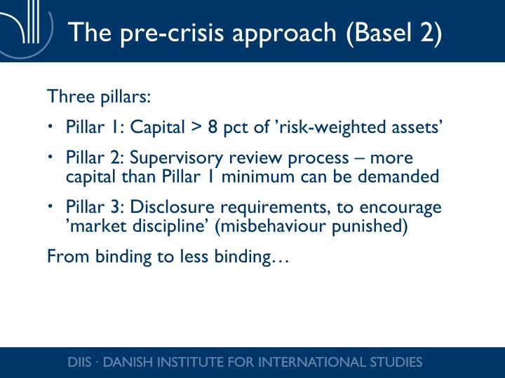 The pre-crisis approach (Basel 2)