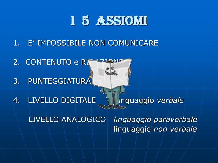 I  5  ASSIOMI