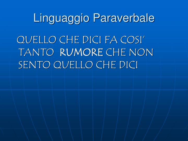 Linguaggio Paraverbale