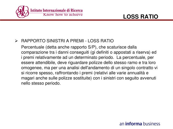 Loss ratio