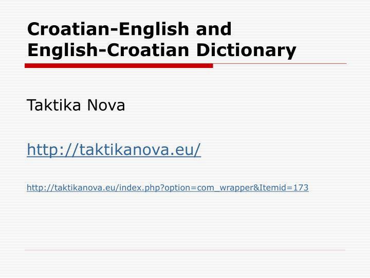 Croatian-English