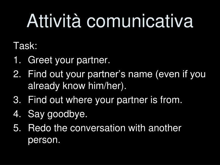 Attività comunicativa