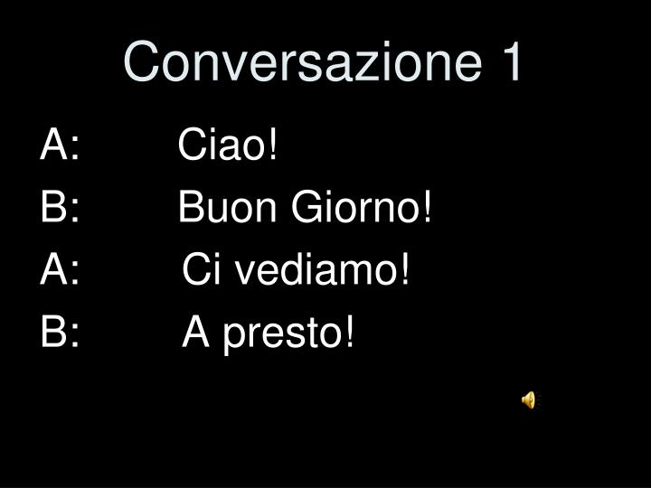 Conversazione