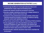 income generation activities cont