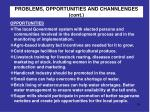 problems opportunities and channlenges cont1