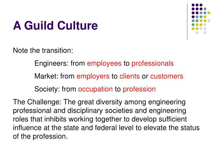 A Guild Culture