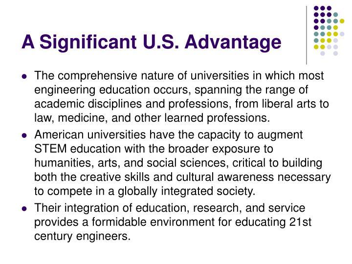 A Significant U.S. Advantage