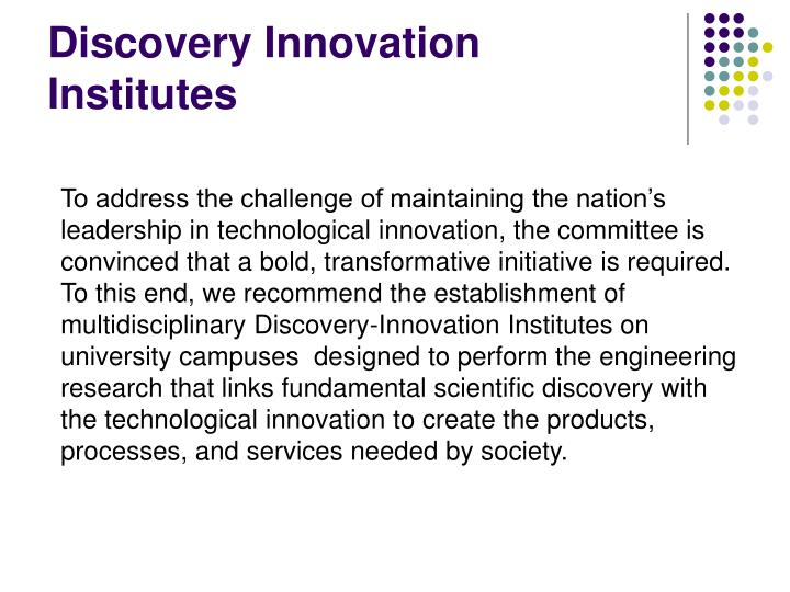 Discovery Innovation Institutes