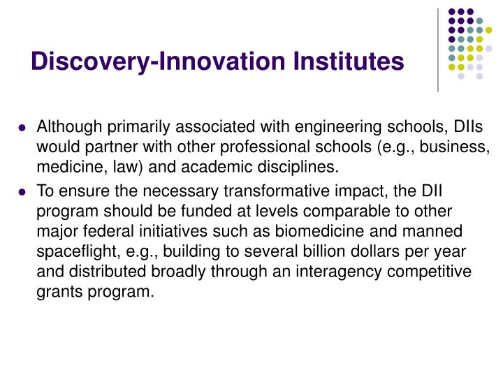 Discovery-Innovation Institutes