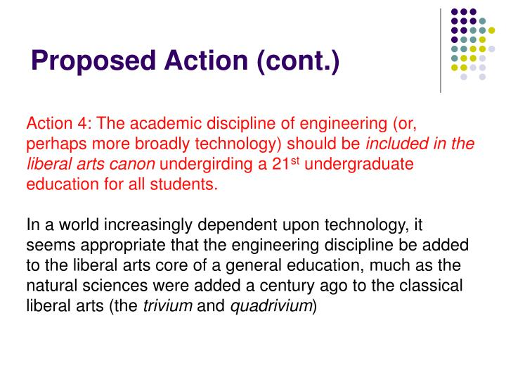 Proposed Action (cont.)
