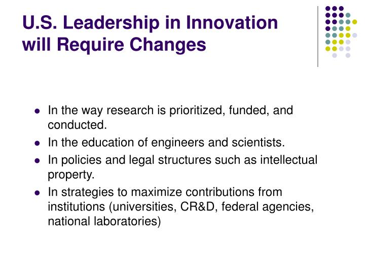 U.S. Leadership in Innovation