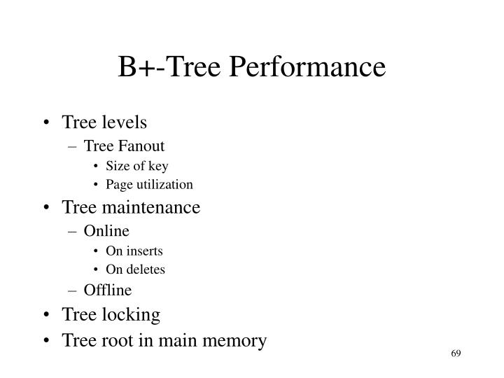 B+-Tree Performance