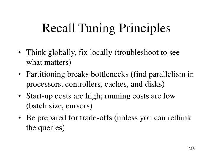 Recall Tuning Principles
