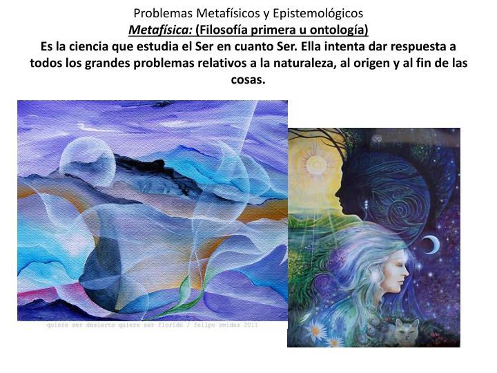 Problemas Metafísicos y Epistemológicos