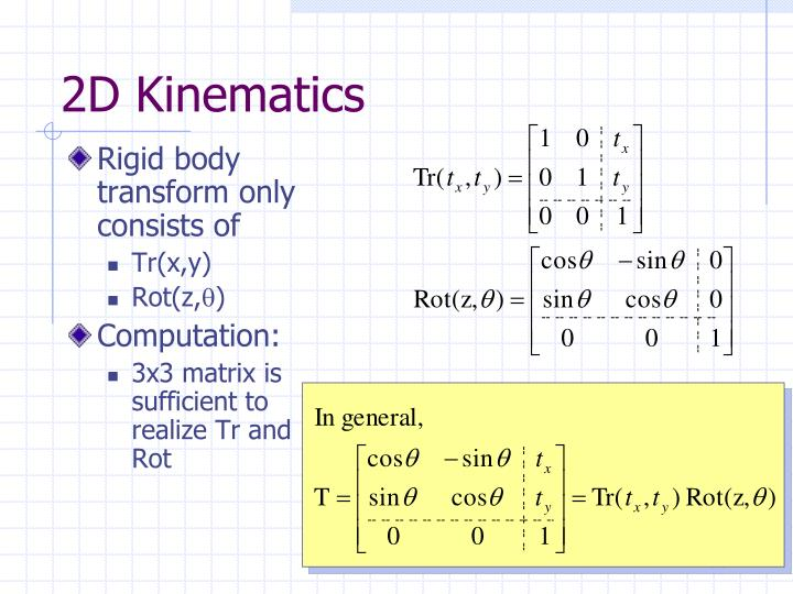 Rigid body transform only consists of