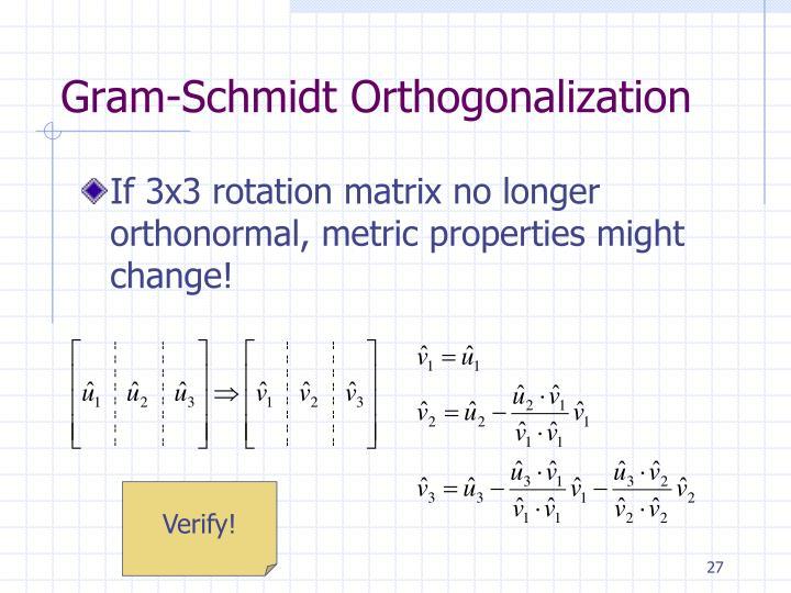 Gram-Schmidt Orthogonalization