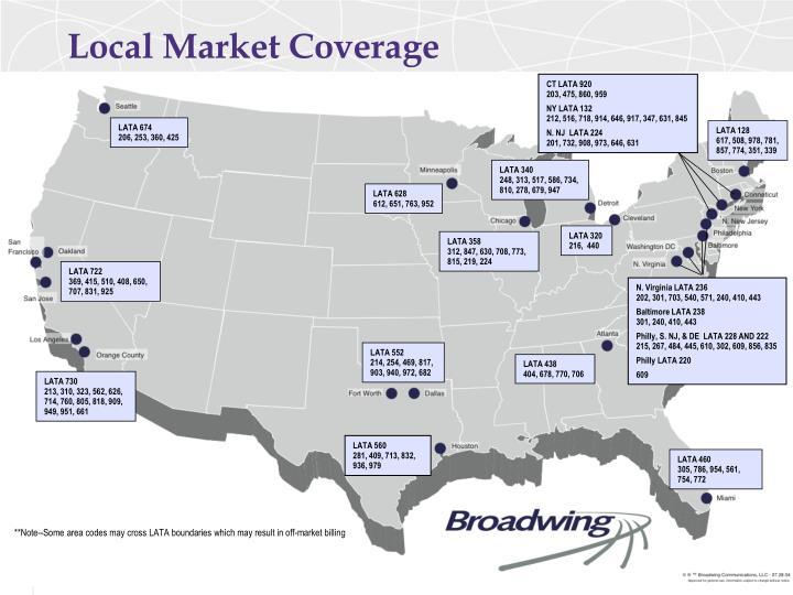 Local Market Coverage