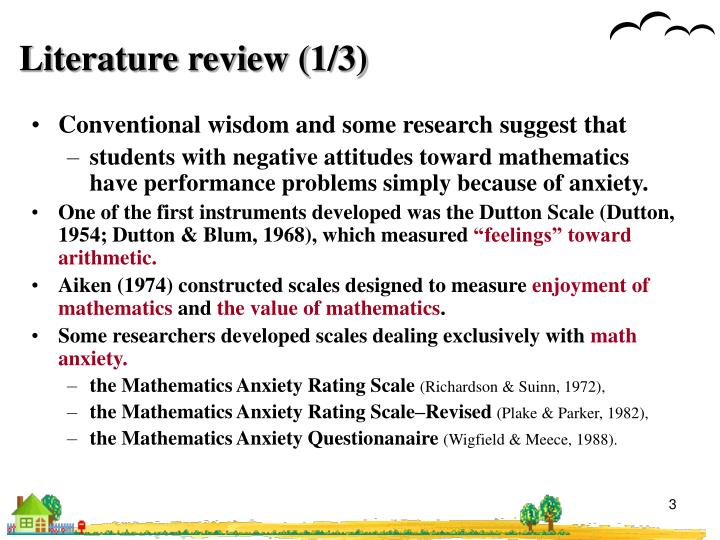 Literature review 1 3